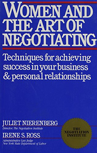 9780671555559: Women and the Art of Negotiating