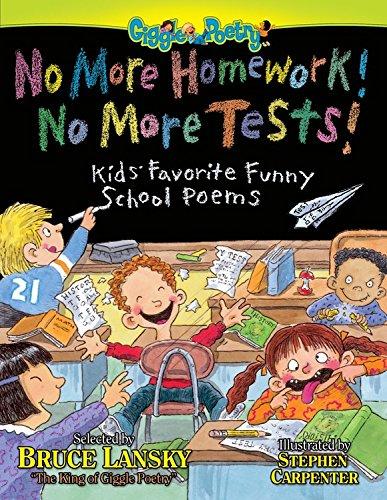 9780671577025: No More Homework! No More Tests!: Kids Favorite Funny School Poems