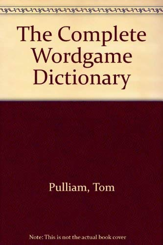 9780671601331: The Complete Wordgame Dictionary