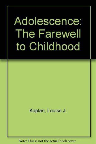 9780671604639: Adolescence: The Farewell to Childhood
