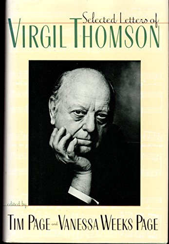Selected letters of Virgil Thomson: Thomson, Virgil