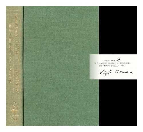 The Selected Letters of Virgil Thomson