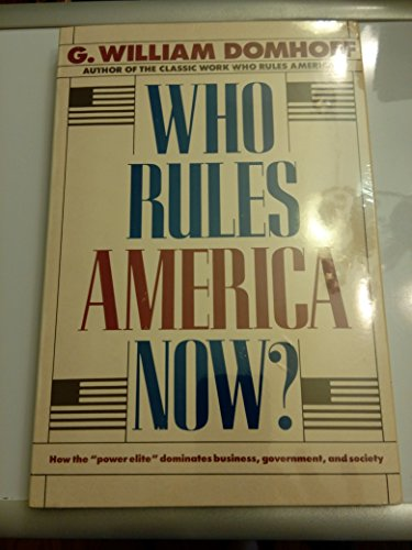 9780671622350: Who Rules America Now?: A View for the 80's
