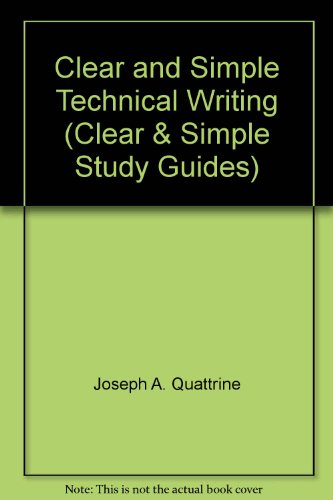 9780671623999: Clear & simple technical writing