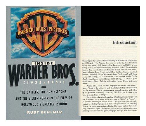 9780671631352: Inside Warner Bros.