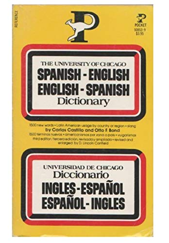9780671644888: The University of Chicago Spanish-English English-Spanish Dictionary