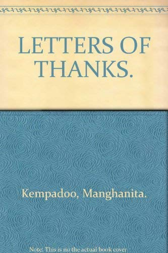 9780671650896: LETTERS OF THANKS.