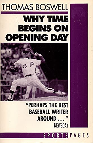 9780671655327: Why Time Begins on Opening Day (Sports pages)