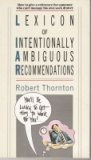 9780671664015: Lexicon of Intentionally Ambiguous Recommendations
