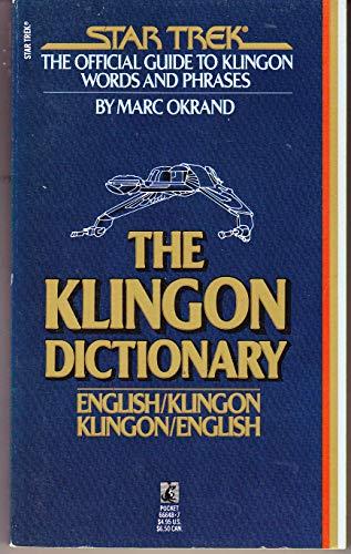 9780671666484: Title: Star Trek The Klingon Dictionary