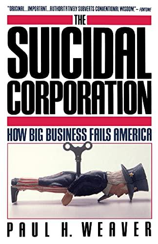 9780671675592: Suicidal Corporation (Touchstone Books)