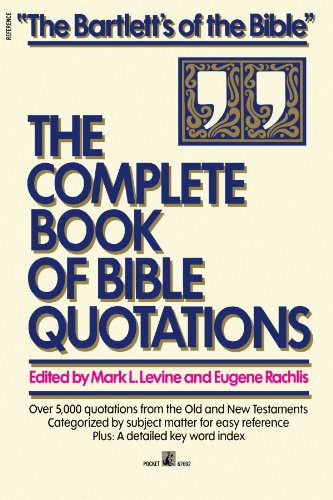 9780671676926: Complete Book of Bible Quotations