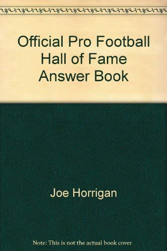 9780671686956: FOOTBALL HALL OF FAME: AMSWER BOOK