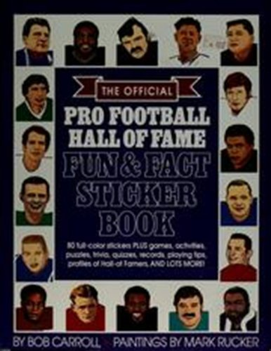 9780671686963: FOOTBALL HALL OF FAME: FUN AND FACT STICKER