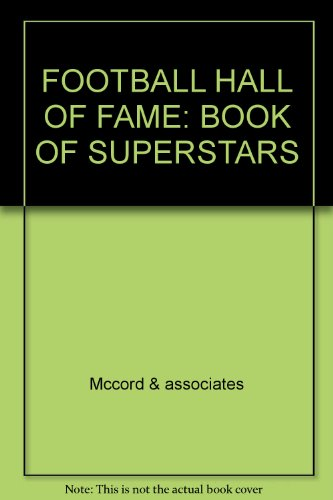 9780671686970: FOOTBALL HALL OF FAME: BOOK OF SUPERSTARS