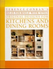 9780671687182: Terence Conran's Do-It-Yourself With Style Original Designs for Kitchens and Dining Rooms