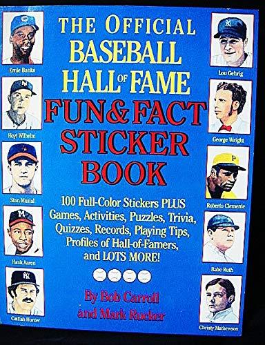 BASEBALL HALL OF FAME: RECORD STICKER BOOK (0671690914) by Carroll, Bob