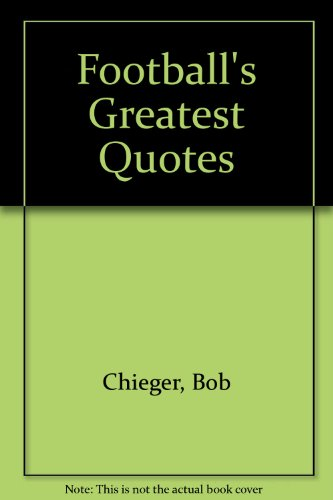 9780671693688: Football's Greatest Quotes
