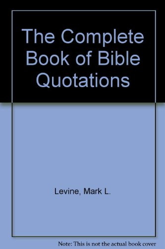 9780671705510: Complete Book of Bible Quotations
