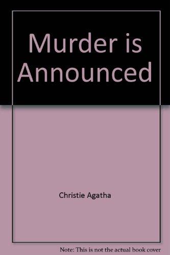 Murder is Announced: Agatha Christie