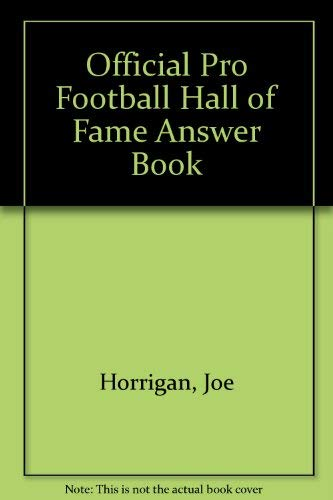 9780671710019: Official Pro Football Hall of Fame Answer Book
