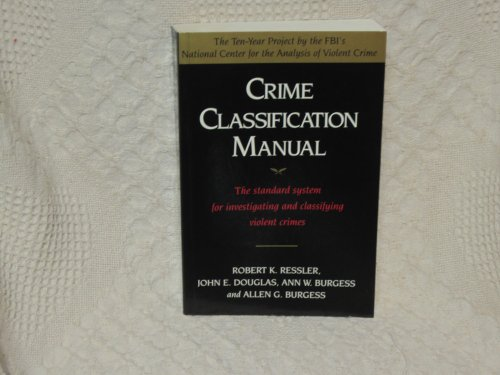 9780671712549: Crime Classification Manual