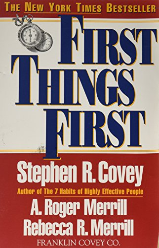 9780671712839: First Things First: to live, to love, to Learn, to Leave a Legacy