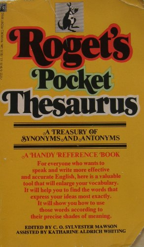 Roget's Pocket Thesaurus: Mawson