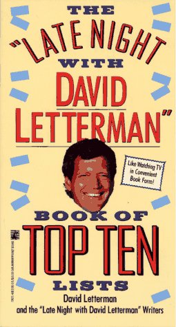 9780671726713: The Late Night with David Letterman Book of Top Ten Lists