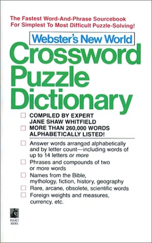 9780671726928: Webster'S New World Crossword Puzzle Dictionary: Third Edition