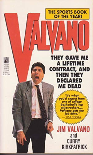 9780671732547: Valvano: They Gave Me a Lifetime Contract, and Then They Declared Me Dead