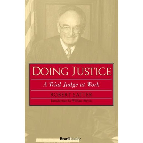 9780671732950: Doing Justice: A Trial Judge at Work