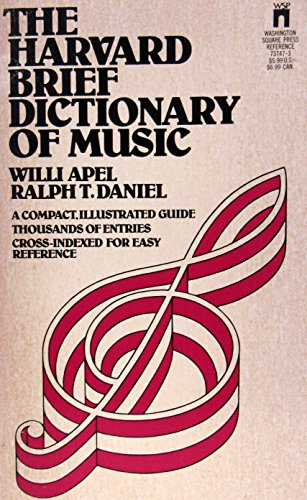 9780671737474: The Harvard Brief Dictionary of Music