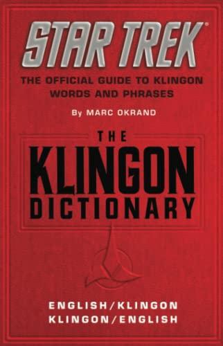 9780671745592: The Star Trek: The Klingon Dictionary: English/Klingon, Klingon/English (Star Trek (trade/hardcover))
