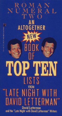 An Altogether New Book of Top Ten Lists