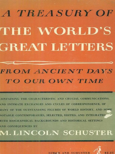 9780671760014: A Treasury of The World's Great Letters