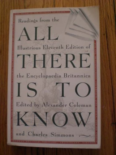 All There Is to Know: Readings from: Alexander Coleman [Editor];