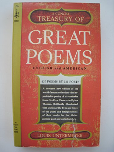 9780671770761: A Concise Treasury of Great Poems