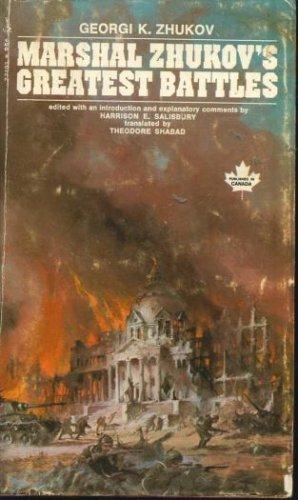 9780671771911: Marshal Zhukovs Greatest Battles