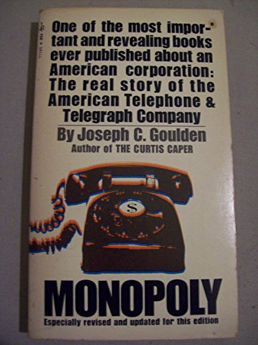 Monopoly (9780671771959) by Joseph C. Goulden