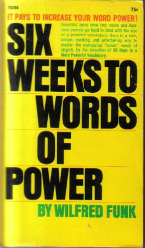 9780671772895: SIX WEEKS TO WORDS OF POWER