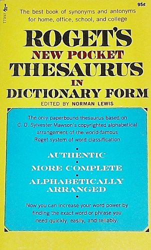 9780671773977: Roget's New Pocket Thesaurus In Dictionary Form