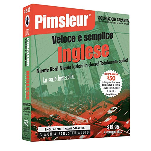 9780671776404: Pimsleur English for Italian Quick & Simple Course - Level 1 Lessons 1-8 CD: Learn to Speak and Understand English for Italian with Pimsleur Language (Quick & Simple Basic Programs)