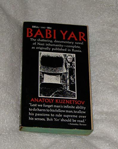 Babi Yar: Anatoly Kuznetsov