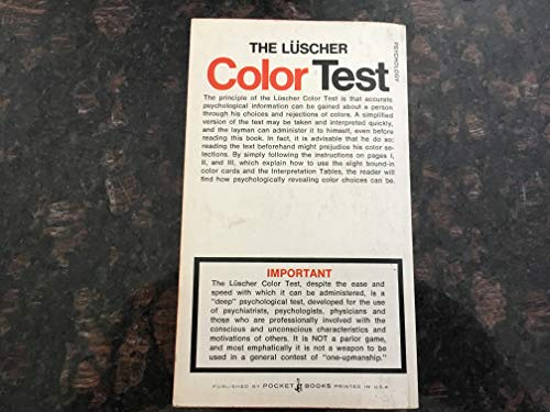 9780671788278: Luscher Color Test