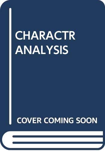 9780671802592: Character Analysis
