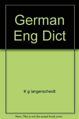 9780671805982: German Eng Dict