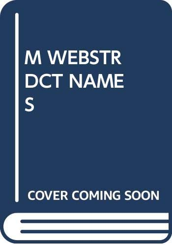 The Merriam-Webster Pocket Dictionary of Proper Names (0671806246) by Geoffrey Payton