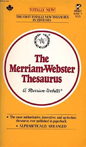 9780671814663: The Merriam Webster Thesaurus