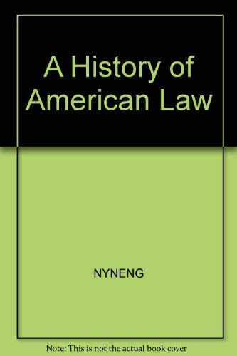 A History of American Law (Touchstone Books (Paperback)): Friedman, Lawrence Meir